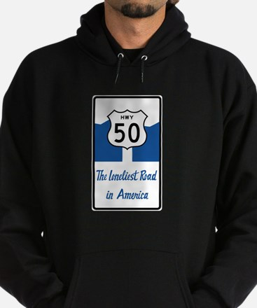Highway 50, Loneliest in America, Ne Hoodie (dark)