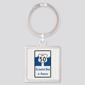 Highway 50, Loneliest in America, Square Keychain