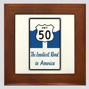 Highway 50, Loneliest in America, Neva Framed Tile