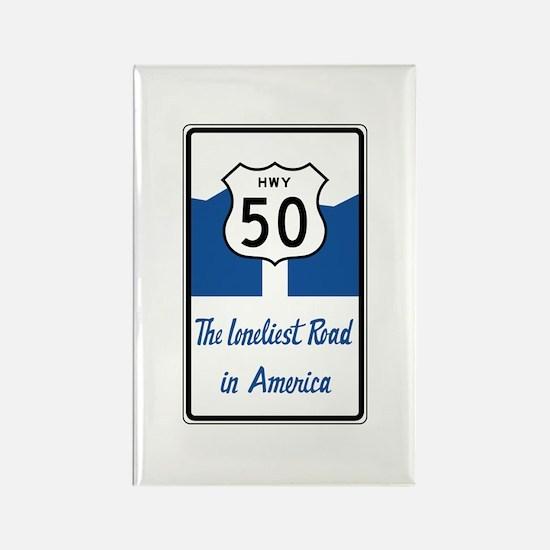 Highway 50, Loneliest in America, Rectangle Magnet