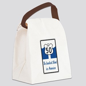 Highway 50, Loneliest in America, Canvas Lunch Bag