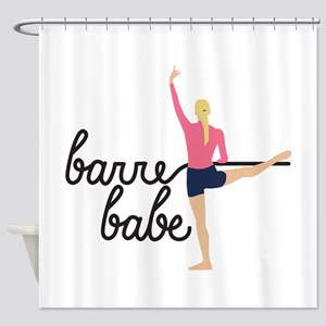 Barre Babe Shower Curtain