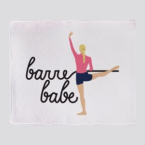 Barre Babe Throw Blanket