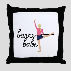 Barre Babe Throw Pillow