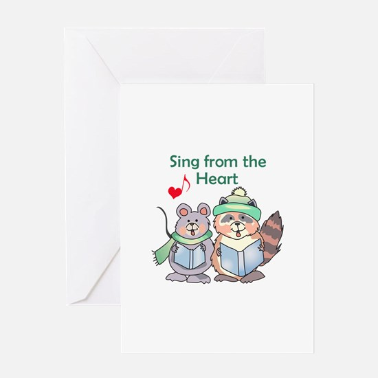 SING FROM THE HEART Greeting Cards