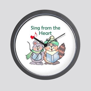 SING FROM THE HEART Wall Clock