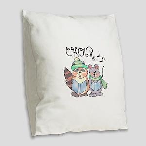 CHOIR Burlap Throw Pillow