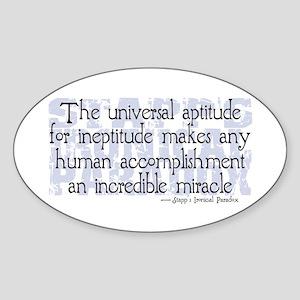 Stapp's Paradox Oval Sticker