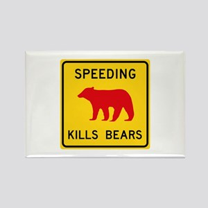 Speeding Kills Bear, California ( Rectangle Magnet