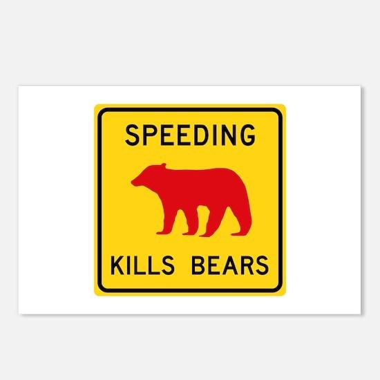 Speeding Kills Bear, Cali Postcards (Package of 8)