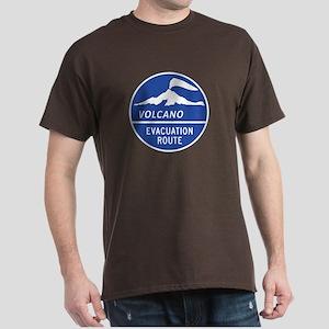 Volcano Evacuation Route, Washington Dark T-Shirt