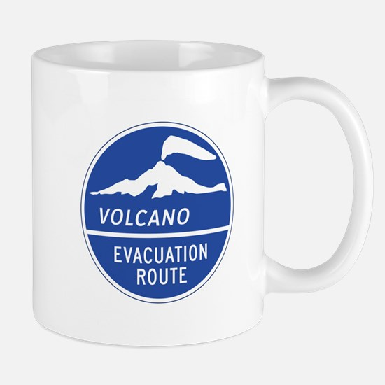 Volcano Evacuation Route, Washington Mug