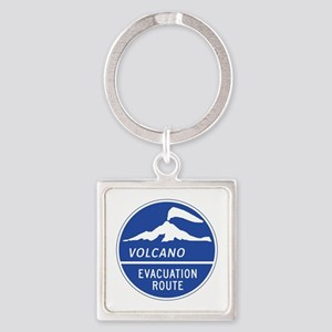Volcano Evacuation Route, Washingt Square Keychain
