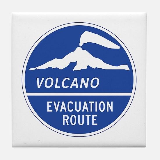 Volcano Evacuation Route, Washington Tile Coaster