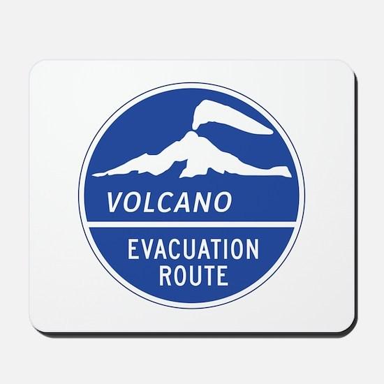 Volcano Evacuation Route, Washington Mousepad