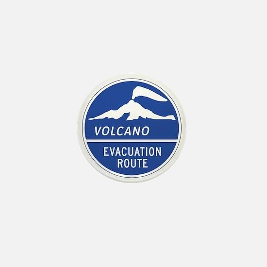Volcano Evacuation Route, Washington Mini Button