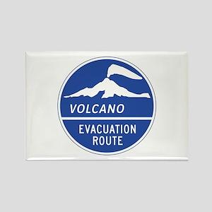 Volcano Evacuation Route, Washing Rectangle Magnet
