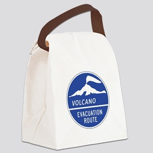 Volcano Evacuation Route, Washing Canvas Lunch Bag