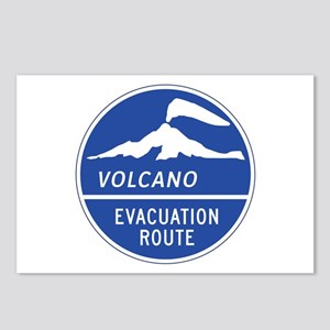Volcano Evacuation Route, Postcards (Package of 8)