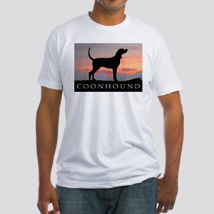 Sunset Coonhound Fitted T-Shirt