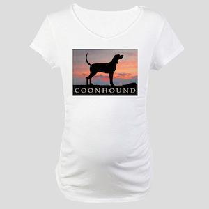 Sunset Coonhound Maternity T-Shirt