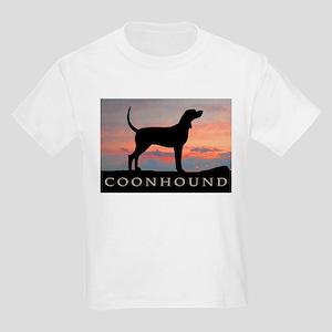 Sunset Coonhound Kids Light T-Shirt
