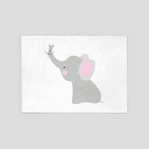 Little Elephant 5'x7'Area Rug