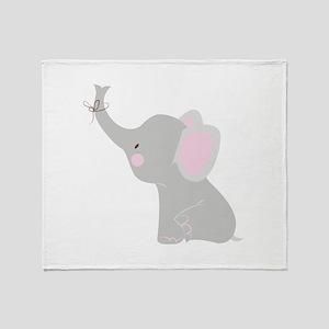 Little Elephant Throw Blanket