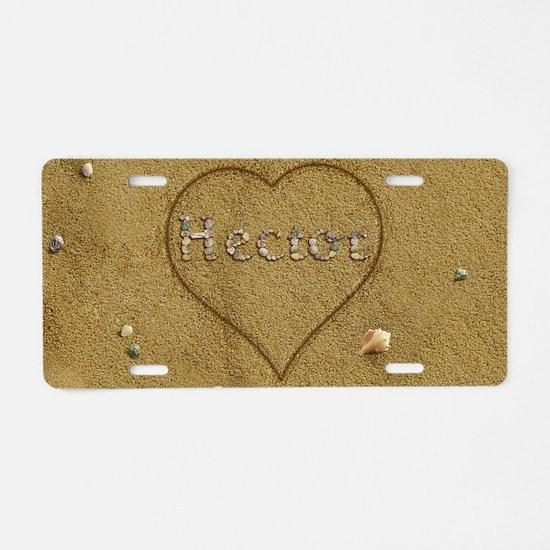 Hector Beach Love Aluminum License Plate