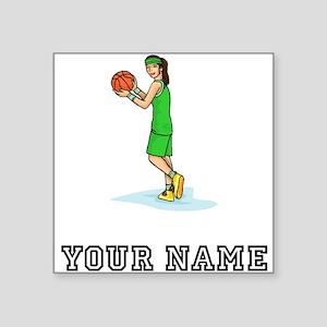 Female Basketball Player Sticker