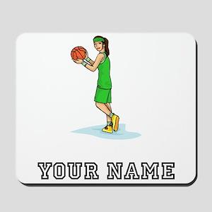 Female Basketball Player Mousepad