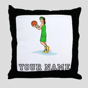 Female Basketball Player Throw Pillow