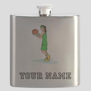 Female Basketball Player Flask