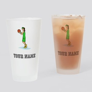 Female Basketball Player Drinking Glass