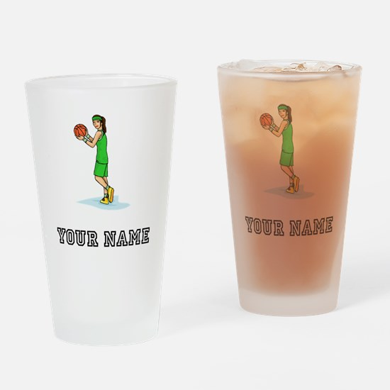 Female Basketball Player Drinking Glass