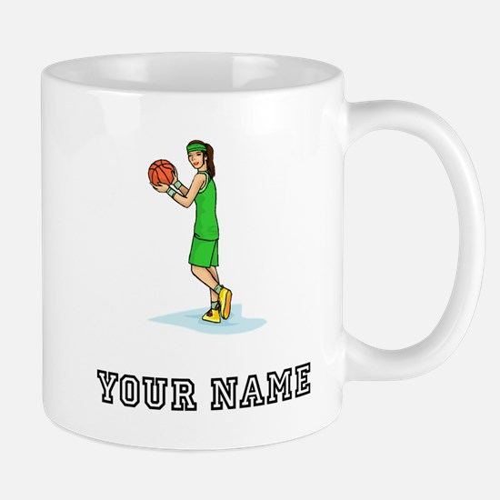 Female Basketball Player Mugs