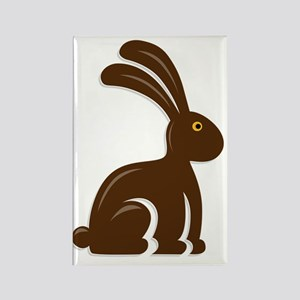 Funny Chocolate Bunny Rectangle Magnet
