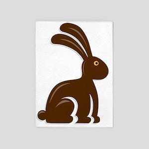 Funny Chocolate Bunny 5'x7'Area Rug