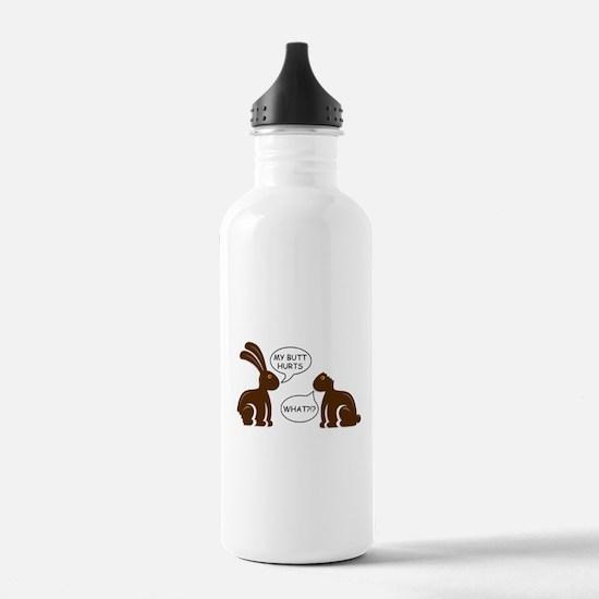 Funny Chocolate Bunny Water Bottle