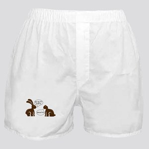 Funny Chocolate Bunny Boxer Shorts