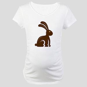 Funny Chocolate Bunny Maternity T-Shirt