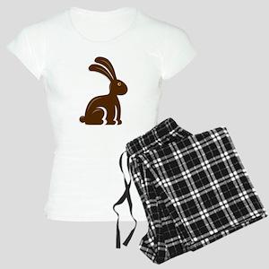 Funny Chocolate Bunny Women's Light Pajamas