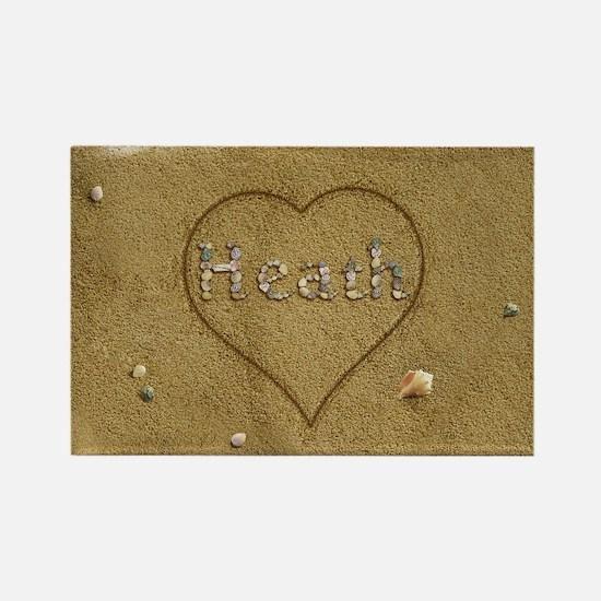 Heath Beach Love Rectangle Magnet
