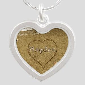 Hayden Beach Love Silver Heart Necklace