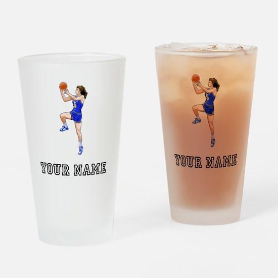 Basketball Layup Drinking Glass