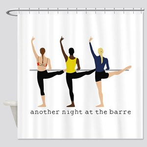 Night At The Barre Shower Curtain