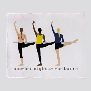 Night At The Barre Throw Blanket