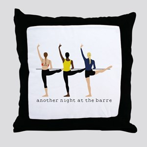 Night At The Barre Throw Pillow