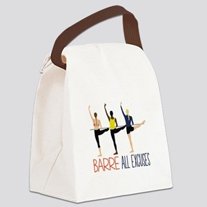 Barre All Excuses Canvas Lunch Bag