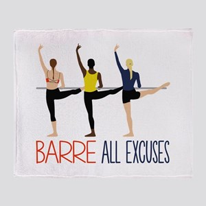 Barre All Excuses Throw Blanket
